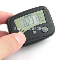 Electronic LCD Run Step Pedometer Walking Distance Calorie Kilometer Miles Counter Passometer Black
