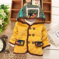 2014 Winter Baby Girls Parkas Outwear Long Sleeve Hooded Style Children Jacket Coat Free Shipping K4175