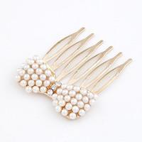Korean fashion sweet  bow tiara pearl pearl hair comb /hair pins clip /female trendy headbands hair accessories