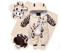 Free shipping 2014 new Autumn and winter baby kids Clothes sets Baby rompers Baby clothing coat jumpsuit 0 ~ 12 months
