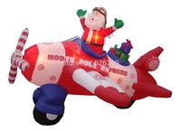 Christmas decorations King 2.4 m inflatable rotating aircraft Plaza Hotel Arcade large decorative itemschristmas outdoor decorat