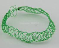 greenTattoo Choker Stretch Necklace New  Retro Henna Vintage Elastic Boho 90s 80s