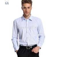 Free Shipping New 2013 Men Fashion Brand Long Sleeve Small Stripe Business Shirts/High Quality Cotton Office Shirt A55011 S-3XL