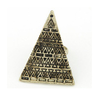 Free shipping New Design Fashion High quality Vintage Bohemia Style Metal geometric triangle ring Jewelry for Women 2014 PD22