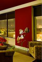 Funlife 56x70cm Lovely Tulip Flowers Reflective Chrome Mirror-like Finish Wall Stickers Art Mural For Bedroom Living Room RFS019