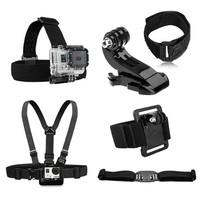 Gopro Accessories Chest Belt+WiFi Remote Wrist Belt+Head Strap Mount+Helmet Strap+Bag+mount for Gopro HD Hero3 2 Black Edition