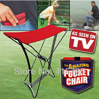 EMS for Ruissa and other regions Free shipping 30pcs Amazing pocket chair portable folding mini folding stool