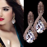 High Quality Handmade Water Drop Dangle Women Earrings of Real Austrian Crystals Jewelry EZ0383