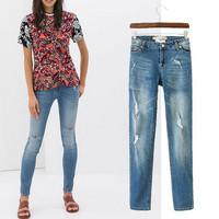 Women Brand Ripped Denim Jeans Ladies Casual Skinny Pencil Denigner Jeans Boyfreind Jeans For women Plus Size 42