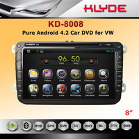 KLYDE Android 8 inch muti-touch screen car dvd player for MAGOTAN/POLO/Golf 5/Golf 6