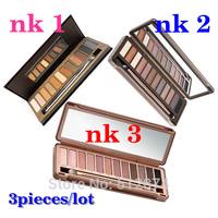 3pieces/lot 2014 Nake 3 Makeup Set 12 Colors Palette NK1 NK2 NK3 Eyeshadow Palettes Nude Tude Makeup Wholesale Drop Shipping