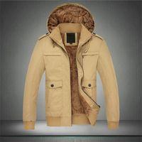 New Men Coat Parka Men's Winter Warm Thicken cotton-padded coats Jacket Outwear Coat Parka Black