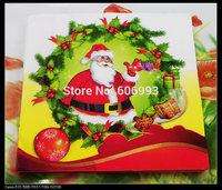 Food-grade Santa Paper Napkin Event & Party Christmas Tissue Napkin Supply Decoration Paper 33cm*33cm 1pack/lot