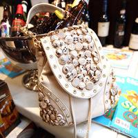 2014 new handbags wholesale Fashionable retro coin diamond tassel bag shoulder bag diagonal package / free shipping