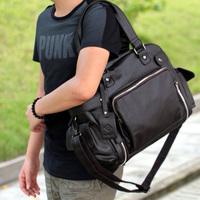 Korean version of genuine capacious handbags tide men travel bag casual bag British style single shoulder bag bag