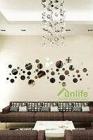 Funlife 40x120cm Bubble Round Reflective Chrome Mirror-like Wall Stickers Acrylic Decal DIY Headboard Art Mural RFS023