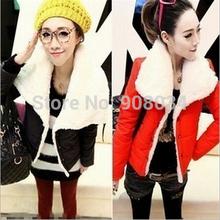 Free Shipping 2014 winter warm coats women wool slim double breasted wool coat winter jacket women fur women's coat jackets R918(China (Mainland))