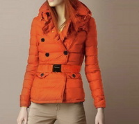 Hot New 2013 Women Fashion Brand Cotton Padded Short Belted Slim Coat/Designer Double Breasted British Style Winter Coat #22010