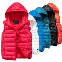 2014 Hot Sale Nature Color Simple Style Zipper Fashion Light Sleeveless Women Winter Vest YFZ27