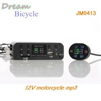 High quality 12V Motorbike Motorcycle MP3 player Scooter audio support WMA  Aluminum Case