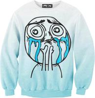 best quality G67 Harajuku 2014 New Women Casual Sweatshirt 3D Funny Cartoon Print O Neck Cute Hoodies pullover