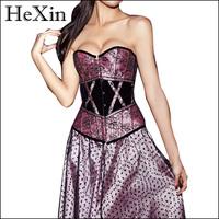 Sexy Corset Lingerie Gothic Underbust Waist Training Corset Bustier Tops Women Shapers Plus size S M L XL XXL 4459