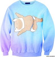best quality G70 fashion girl Harajuku 2014 New Brand Women Casual Sweatshirt 3D Cartoon Print O Neck Hoodies pullover
