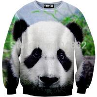 best quality G76 Harajuku 2014 New Brand Women Casual Hoodies 3D Panda Print O Neck Sweatshirt women pullover