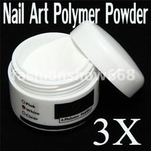 3Pcs/Set Pro Acrylic Nail Art Tips Crystal Polymer Builder Powder(China (Mainland))