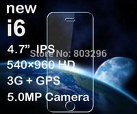 "New Android Phone PK Lenovo 4.7"" IPS Screen Nano-SIM i6 MTK6572 Dual Core 1.2G CPU, 512MB + 4GB, GPS, 3G, Android 4.4, 5.0MP"