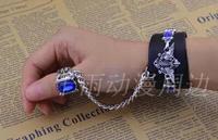 Anime Black Bulter ring Eagle crow shire sapphire mark punk Bracelet cybus animation bracelet cos JP