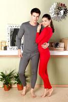 2014 High Quality best women&men's thermal underwear long johns set thicken sexy underwear women's top double wear free shipping