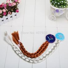 10pcs/lot New frozen children hair accessories, elsa princess silver wig braid, the headdress of the girl(China (Mainland))