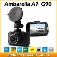 Ambarella A7 G90 car camera dvr Dash cam Full HD 1080P 2.7' LCD 170 Wide angle Lens Car DVR HDR G-Sensor video recorder
