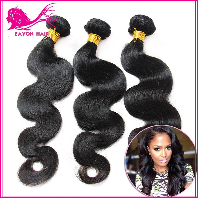 Best brazilian virgin hair gaga hair 8''-30'' body wave natural black hair 5A cheap brazilian hair 3 pcs lot free shipping(China (Mainland))