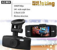 "G1WH Full HD Car DVR Dash Camera Recorder G-sensor 2.7"" LCD 1080P Novatak 96650 140 Degree Angle"