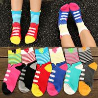2014 Aumtumn New Hot Selling Candy Cartoon Stereo Shoelace Women Socks Free Shipping