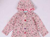 C007   Free Shipping Children Coat Girls 95%Catton Owl Pattern Outwear Children Outwear