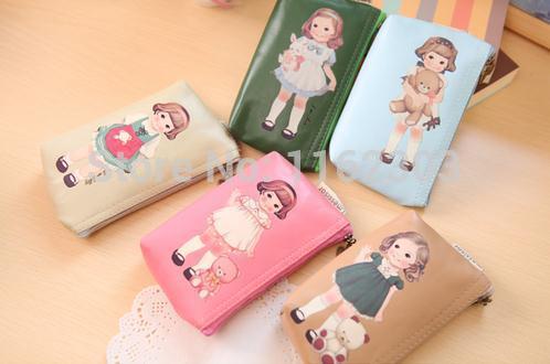 Christmas gift canvas coin purse /fashion key case/ free shipping(China (Mainland))