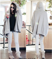 2014 spring and autumn big code ladies casual cardigan jacket in female long section of bat long sleeved Hoodie