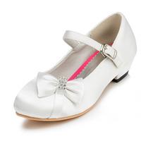 2014 New Girls Wedding Shoes Satin Flower Girls' Wedding Flat Heel Comfort Flats with Rhinestone Shoes(More colors) JYG620