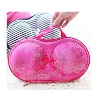 New designed Girls Women Storage Box for Bra,Hearts underwear storage box covered bra box panties socks travel portable bra bag