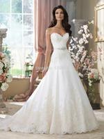Gorgeous Lace Appliques Sweetheart Open Back Princess Wedding Gown Dresses 2014 New Vestidos Novias