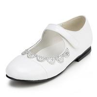 2014 New Girls Wedding Shoes Flower Girls' Wedding Flat Heel Comfort Flats with Rhinestone Shoes(More colors) JYG622