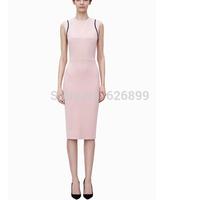 2014 New Design Women's Sexy Slim Dress Bodycon Maxi Dress Party Sleeveless O-Neck Dressing BD 72