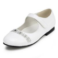 2014 New Girls Wedding Shoes Flower Girls' Wedding Flat Heel Comfort Flats with Rhinestone Shoes(More colors) JYG625