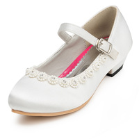 2014 New Girls Wedding Shoes Satin Flower Girls' Wedding Flat Heel Comfort Flats with Rhinestone Shoes(More colors) JYG629