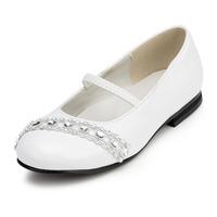 2014 New Girls Wedding Shoes Flower Girls' Wedding Flat Heel Comfort Flats with Rhinestone Shoes(More colors) JYG627