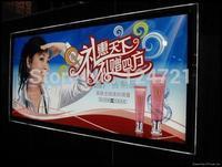 Rectangle led panel light ,Mirror box magic led super slim light acrylic stand a0 brand showcase