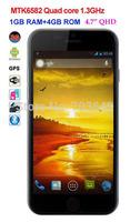 "Star Kingelon T6 MTK6582 Quad Core 1.3GHz 3G Smartphone Android 4.3 1GB RAM 4GB ROM 4.7"" QHD Screen GPS WiFi Air Gestures"
